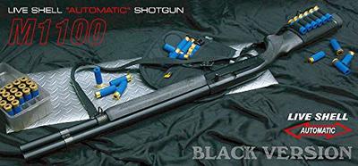 ショットガン M1100 BV(ブラックバージョン)   ガス・ブローバック・ライブシェル、固定ホップアップ