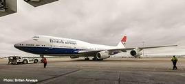 """1/500 747-400 ブリティッシュエアウェイズ """"100th anniv."""" G-CIVB Negus Design"""