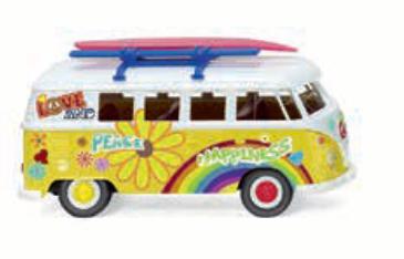 "1/87""VW T1 バス  """"Flower Power""""  サーフボード""079725"