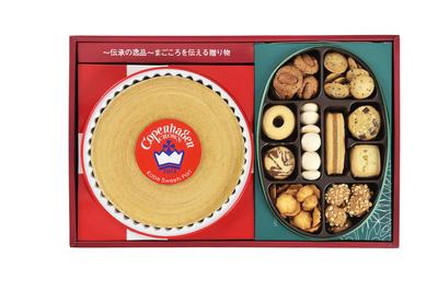 詰合せギフト(バウムクーヘン400g・ハンドメイドクッキー200g) (手提げ袋付)
