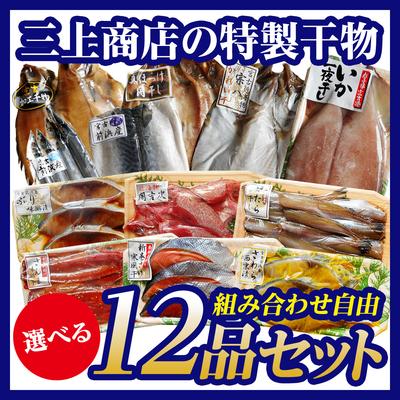 三上商店の特製干物 選べる12品セット[12種類から組み合わせ自由]