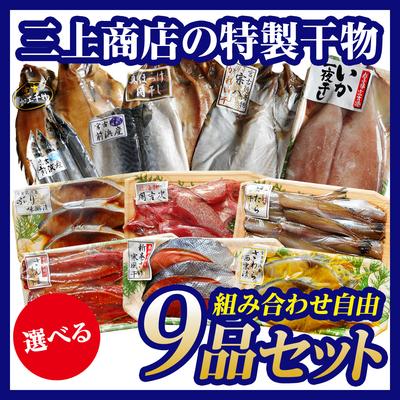 三上商店の特製干物 選べる9品セット[12種類から組み合わせ自由]