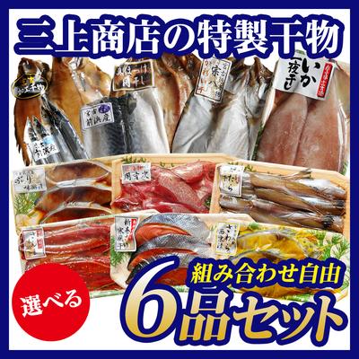 三上商店の特製干物 選べる6品セット[12種類から組み合わせ自由]