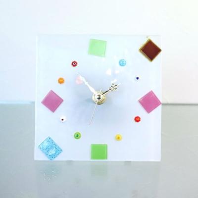 ベネチアングラス置時計 品番.or1414-5