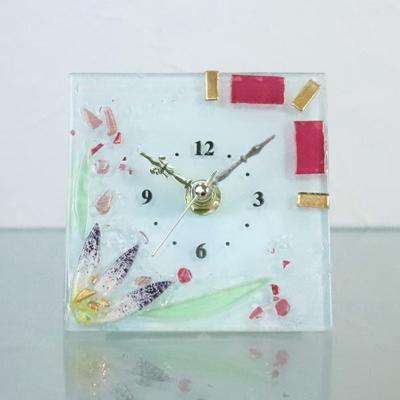 ベネチアングラス置時計 品番.pelt01-57ro-q