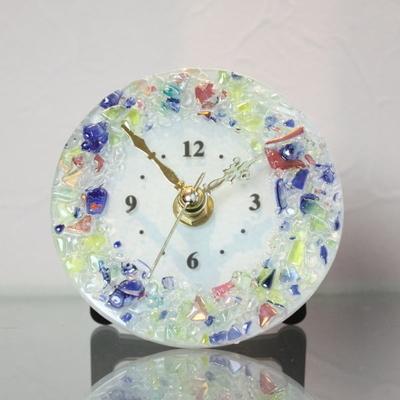 ベネチアングラス置時計 品番.pelt01-81t