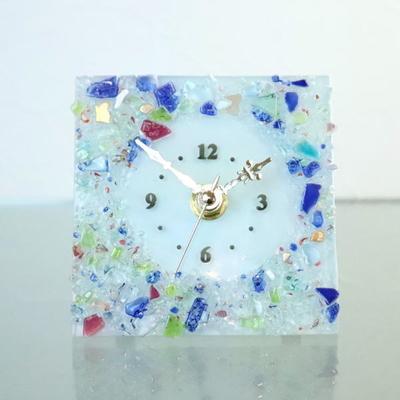 ベネチアングラス置時計 品番.pelt01-81q