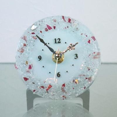 ベネチアングラス置時計 品番.pelt01-83t-p