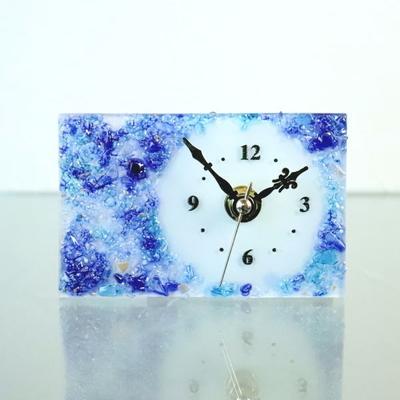 ベネチアングラス置時計 品番.pelt01-86r