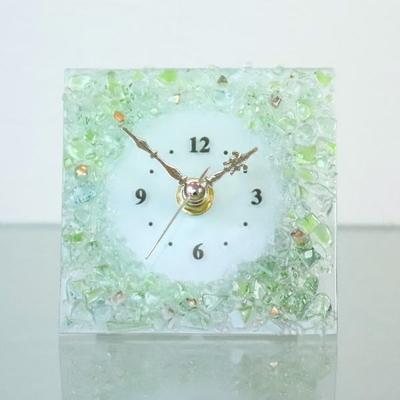 ベネチアングラス置時計 品番.pelt01-87-q