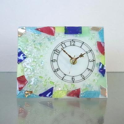 ベネチアングラス置時計 品番.pelt02-80