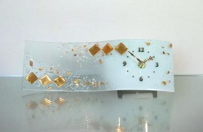 ベネチアングラス置時計 品番.pelt14-68