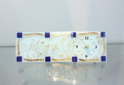 ベネチアングラス置時計 品番.pelt14-70