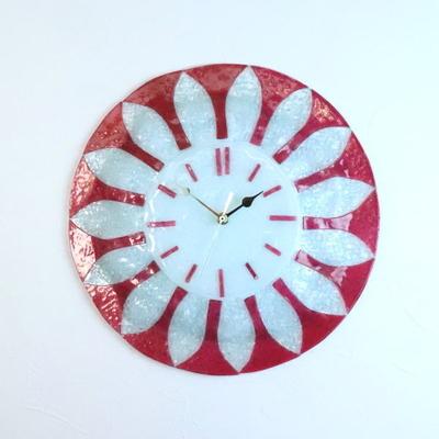 ベネチアングラス掛け時計 pelt06-40t-rosa