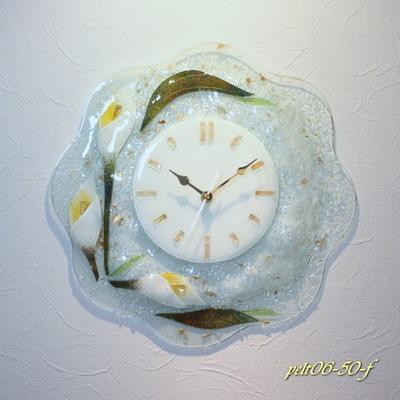 ベネチアングラス掛け時計 pelt06-50-f