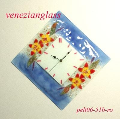 ベネチアングラス掛け時計 pelt06-51b-ro