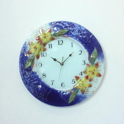 ベネチアングラス掛け時計 pelt06-51b-t