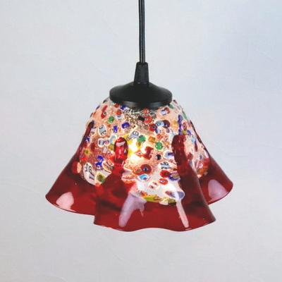 ベネチアングラスペンダントライト 品番.di-fantasy-smerlate-red-sc