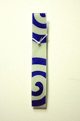 グラスデザイン掛け時計 cnohcs6x41white-blue