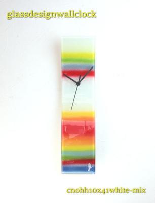 グラスデザイン掛け時計 cnohh10x41white-mix