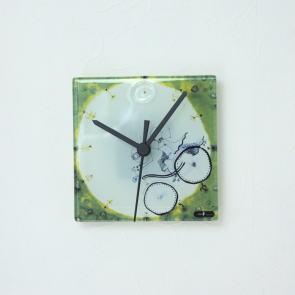 グラスデザイン掛け時計 cnoyp13x13bike