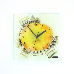 グラスデザイン掛け時計 cnoyv26x26train