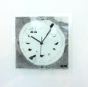 グラスデザイン掛け時計 cnoyp26x26wine