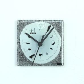 グラスデザイン掛け時計 cnoyp13x13wine