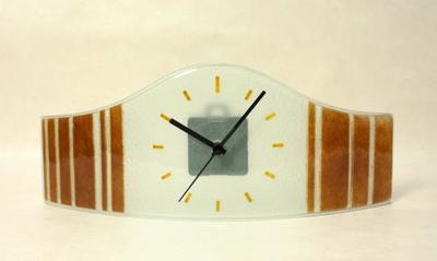 グラスデザイン置時計 cnoav15x40brown