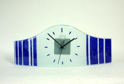グラスデザイン置時計 cnoav15x40blue