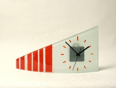 グラスデザイン置時計 cnoatv3x17orange