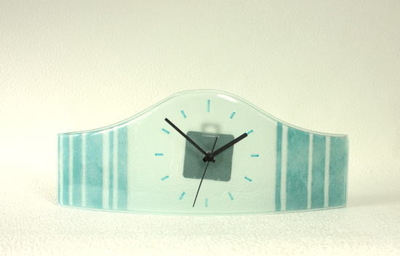 グラスデザイン置時計 cnoav15x40turquoise
