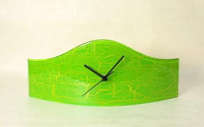 グラスデザイン置時計 cnoax15x40limegreen