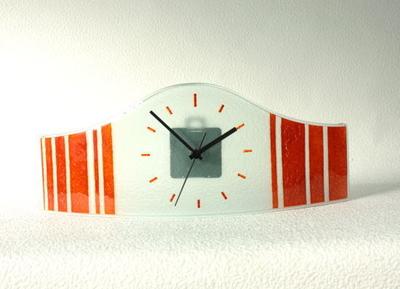 グラスデザイン置時計 cnoav15x40orange