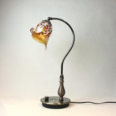 ベネチアングラステーブルランプ fc-570ay-fantasy-calla-amber