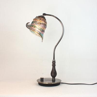 ベネチアングラステーブルランプ fc-570ay-calla-sbruffo-amethyst-lightblue-amber