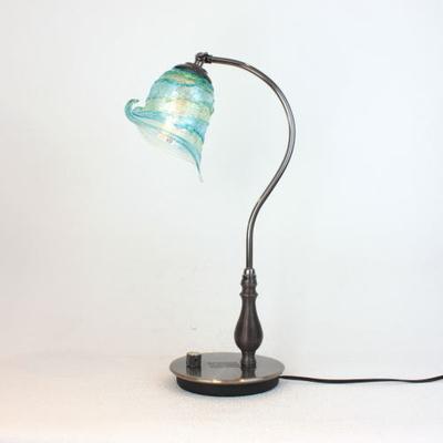 ベネチアングラステーブルランプ fc-570ay-calla-sbruffo-lightblue-green
