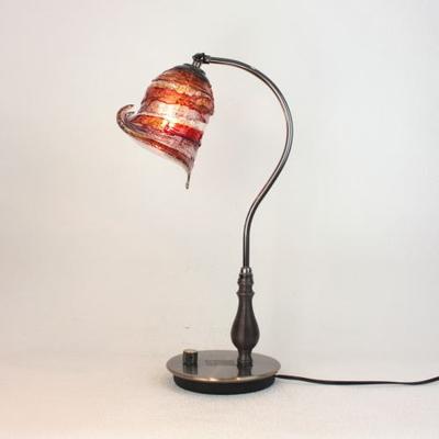 ベネチアングラステーブルランプ fc-570ay-calla-sbruffo-red-amber-amethyst