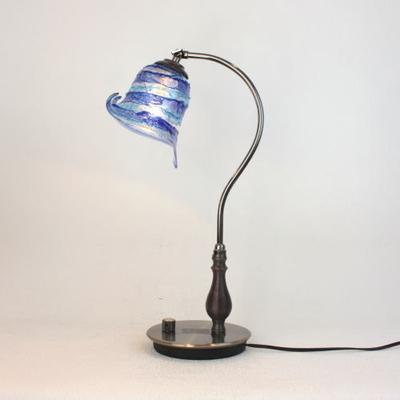 ベネチアングラステーブルランプ fc-570ay-calla-sbruffo-blue-lightblue