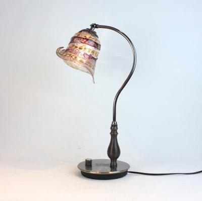 ベネチアングラステーブルランプ fc-570ay-calla-sbruffo-amethyst-amber