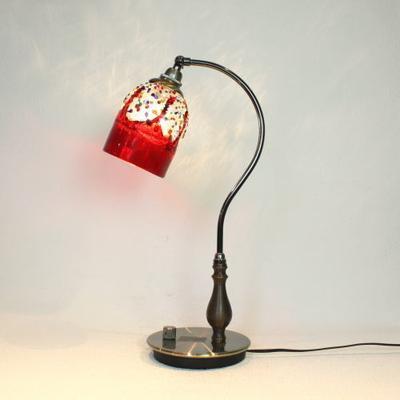 ベネチアングラステーブルランプ fc-570ay-fantasy-goto-red