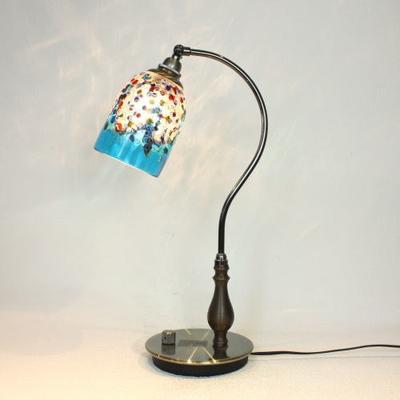 ベネチアングラステーブルランプ fc-570ay-fantasy-goto-lightblue