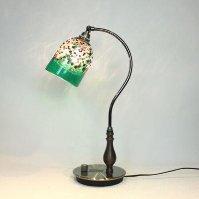 ベネチアングラステーブルランプ fc-570ay-fantasy-goto-green