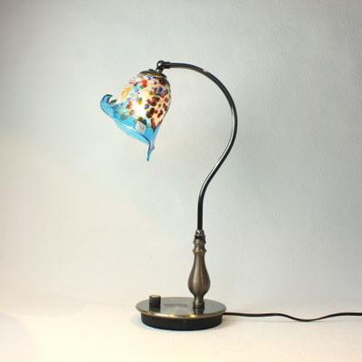 ベネチアングラステーブルランプ fc-570ay-fantasy-calla-lightblue