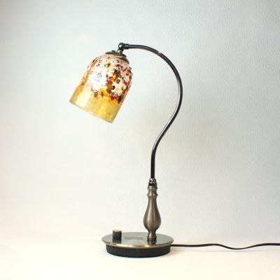 ベネチアングラステーブルランプ fc-570ay-fantasy-goto-amber