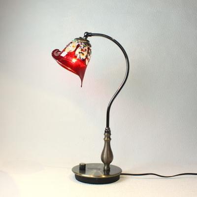 ベネチアングラステーブルランプ fc-570ay-fantasy-calla-red