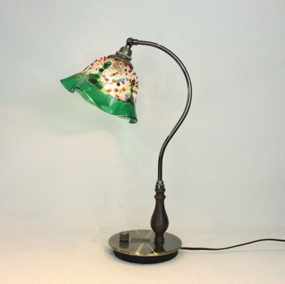 ベネチアングラステーブルランプ fc-570ay-fantasy-smerlate-green