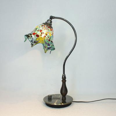 ベネチアングラステーブルランプ fc-570ay-fazoletto-lightblue