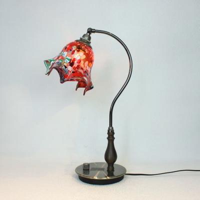 ベネチアングラステーブルランプ fc-570ay-fazoletto-red