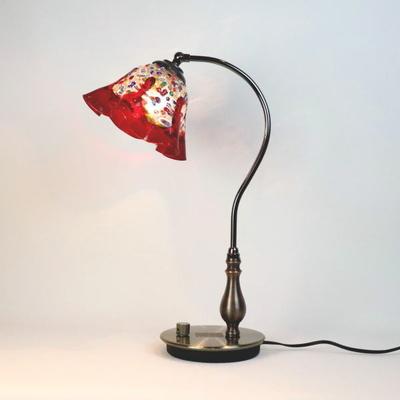 ベネチアングラステーブルランプ fc-570ay-fantasy-smerlate-red